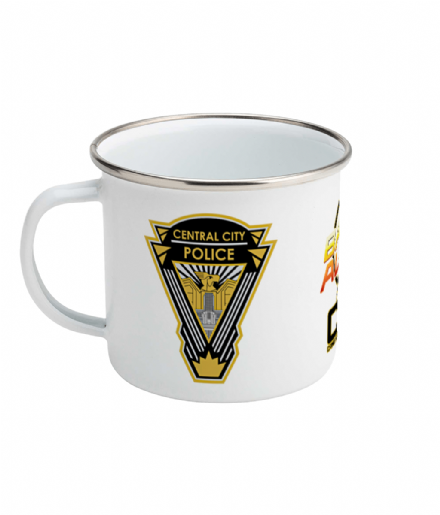 Printed Enamel Mug 10oz the Flash Barry Allen CSI Central City Police Department